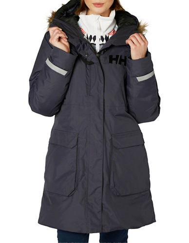 Helly Hansen Faux Fur-Trimmed Parka-BLACK-Medium 89613732_BLACK_Medium