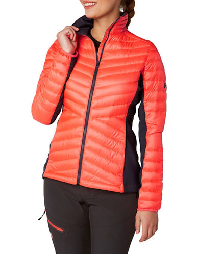 Helly Hansen Hybrid Down-Fille Insulator Jacket-NEON CORAL-X-Large
