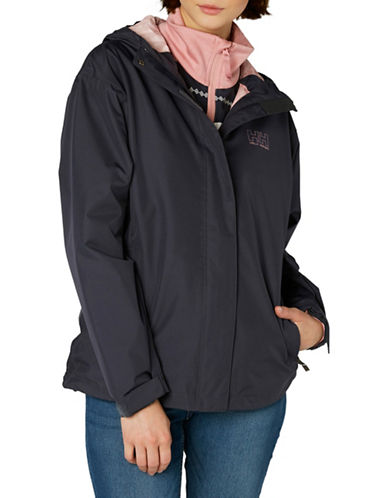 Helly Hansen Seven J Rain Jacket-NAVY-X-Small