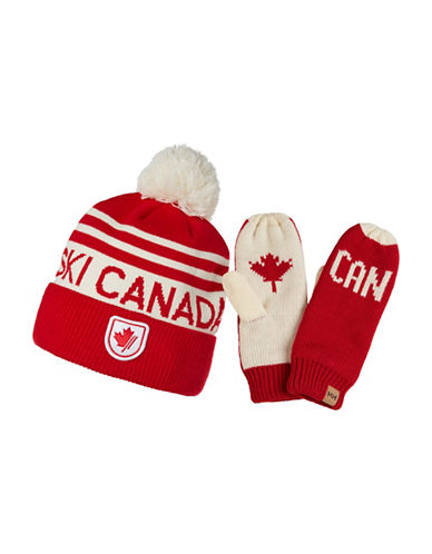 Helly Hansen Two-Piece Hat and Mitten Gift Set-RED-One Size