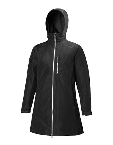 Helly Hansen Drawcord Long Jacket-BLACK-X-Large 89938825_BLACK_X-Large