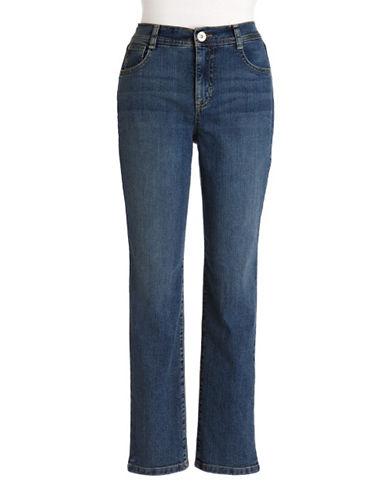 Style And Co. Petite Tummy Control Slim Leg Jeans-FAITH-Petite 2