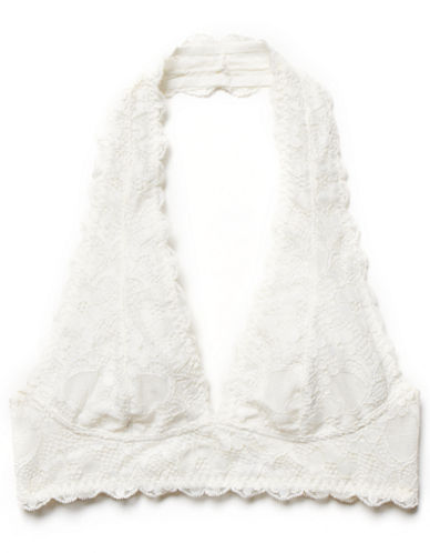 Free People Lace Halter Bra-IVORY-X-Small