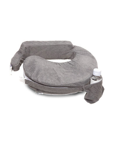 My Brest Friend Deluxe Velour Nursing Pillow-EVENING GREY-One Size