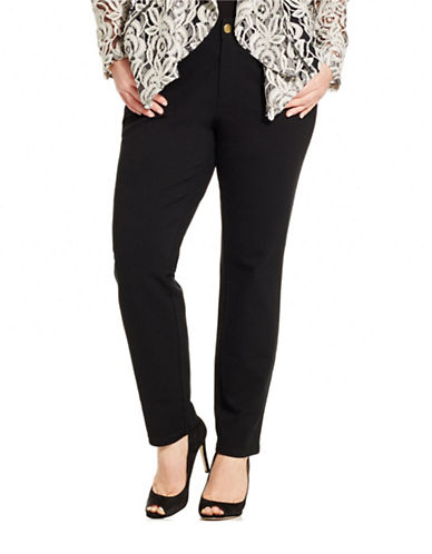 I.N.C International Concepts Plus High-Rise Skinny Ponte Pants-BLACK-18W