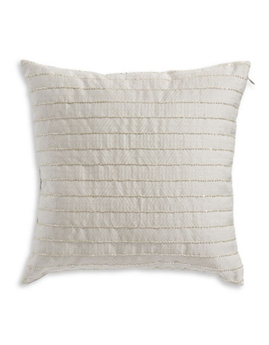Hotel Collection Keystone Beaded Square Cushion-LIGHT GREY-One Size
