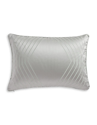 Hotel Collection Keystone Woven Jacquard Pillow Sham-SILVER-Standard