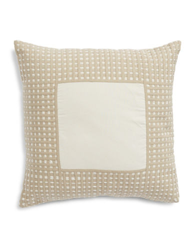Hotel Collection Basketweave Border Cushion-BEIGE-One Size