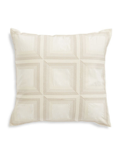 Hotel Collection Embroidered Square Cushion-BEIGE-One Size
