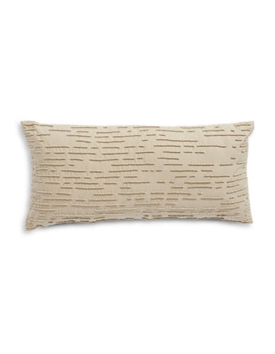 Hotel Collection Beaded Rectangular Cushion-BEIGE-One Size