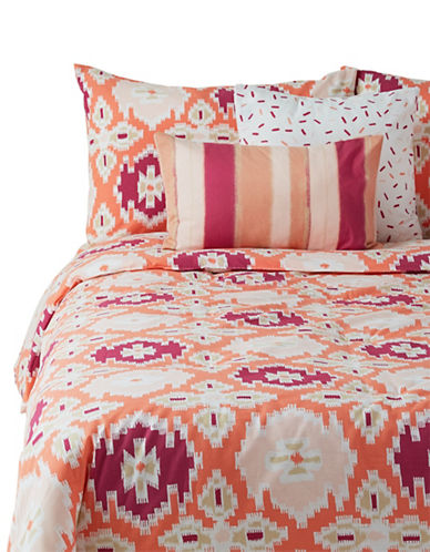 Martha Stewart Whim Desert Flower Five-Piece Comforter Set-PINK-Queen