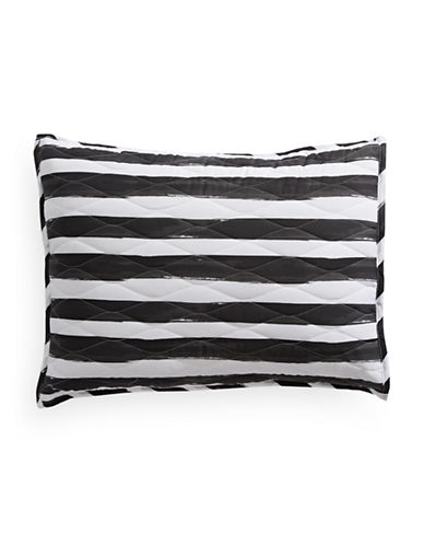 Martha Stewart Whim Different Strokes Quilted Sham-BLACK-Standard