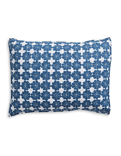 Martha Stewart Whim Flower Bed Pillow Sham-DARK BLUE-Standard