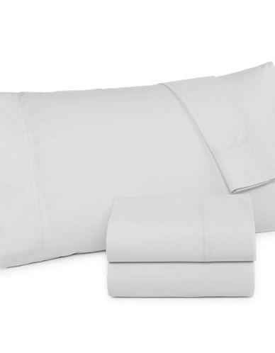 Martha Stewart 360 Thread Count Percale Sheet Set-WHITE-King