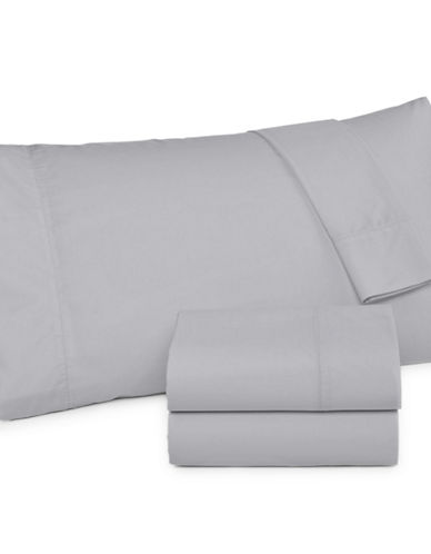 Martha Stewart 360 Thread-Count Solid Percale Two-Piece Pillowcase Set-GREY-Standard