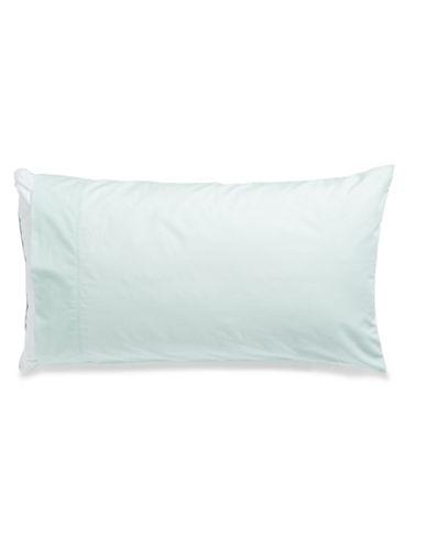 Martha Stewart 360 Thread-Count Solid Percale Two-Piece Pillowcase Set-MINT-Standard