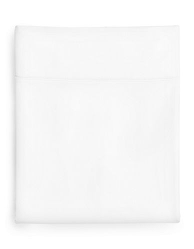 Hotel Collection 1000-Thread Count Egyptian Cotton Flat Sheet-WHITE-Queen