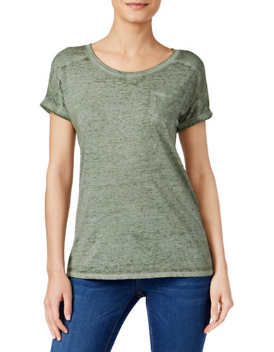 Style And Co. One-Pocket Burnout Tee-GREEN-Large 88402397_GREEN_Large