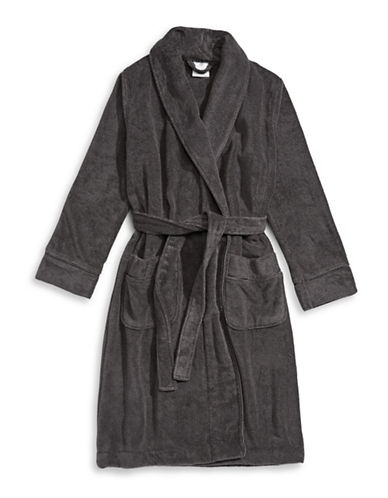 Hotel Collection Terry Knit Finest Bathrobe-SLATE-Small/Medium