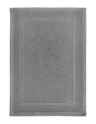 Hotel Collection Woven Cotton Bath Mat-GREY-One Size