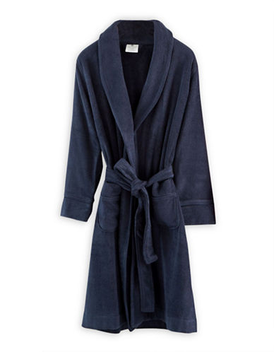 Hotel Collection Terry Knit Finest Bathrobe-NAVY-One Size