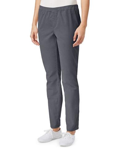 Karen Scott Regular Fit Straight-Leg Pants-GREY-Medium 88527503_GREY_Medium