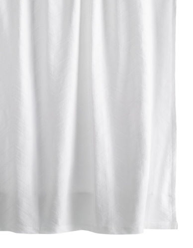 Hotel Collection Textured Wave Shower Curtain-WHITE-One Size