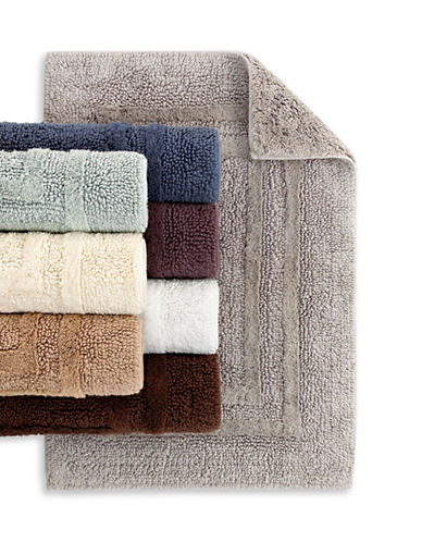 Hotel Collection Reversible Cotton Bath Rug-SMOKE-21x34