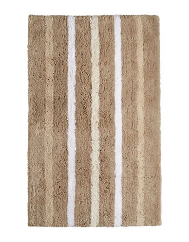 Hotel Collection Contrast Stripe Rug-NATURAL-One Size