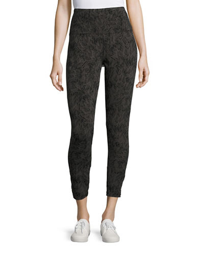 Style And Co. Textured Maze Yoga Leggings-GREY-Large 88453699_GREY_Large