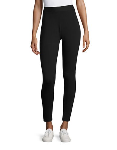 Style And Co. Cotton-Blend Leggings-BLACK-XX-Large