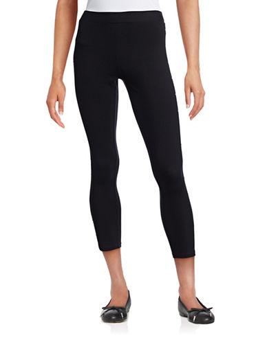 Style And Co. Side-Stud Embellished Leggings-BLACK-Medium 88457201_BLACK_Medium