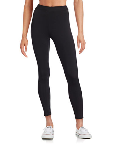 Style And Co. Petite Cotton-Blend Leggings-BLACK-Petite Medium