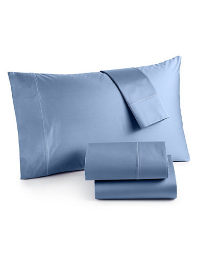 Hotel Collection Four-Piece 525 Thread-Count Cotton Sheet Set-SEA BLUE-Queen