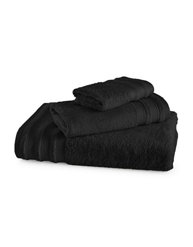 Charter Club Home Pima Cotton Wash Cloth-BLACK-Washcloth