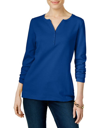 Karen Scott Henley Cotton Top-BLUE-Small 88559734_BLUE_Small