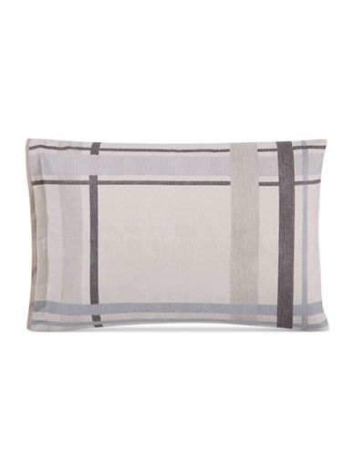 Hotel Collection Modern Plaid Standard Shams-LIGHT BEIGE-King