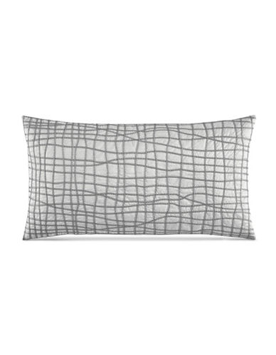 Hotel Collection Modern Plaid Decorative Pillow-GREY-One Size