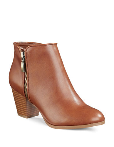 Style And Co. Jamil Raisin Zip Booties-BARREL-10