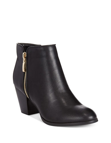Style And Co. Jamil Raisin Zip Booties-BLACK-6