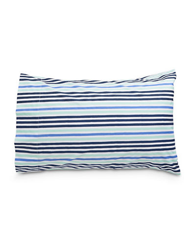 Martha Stewart Whim Parallel Bars Aquatic Two-Piece Pillowcase-MULTI-Standard
