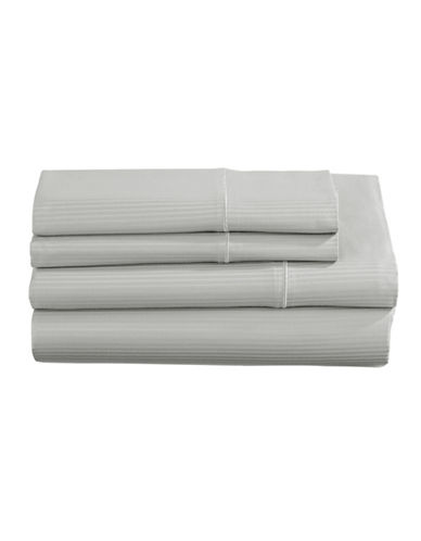 Charter Club Home SleepCool 400 Thread-Count Four-Piece Tailored Fit Sheet Set-GREY-Double