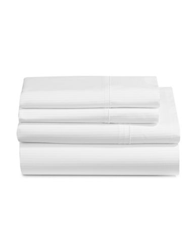 Charter Club Home SleepCool 400 Thread-Count Four-Piece Tailored Fit Sheet Set-WHITE-Double