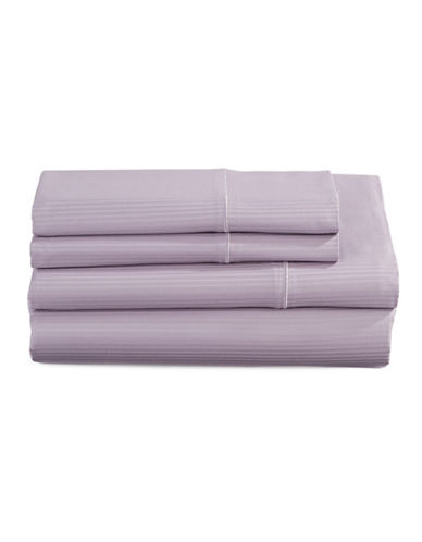 Charter Club Home SleepCool 400 Thread-Count Four-Piece Tailored Fit Sheet Set-PURPLE-Twin