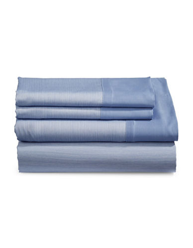 Charter Club Home 550-Thread Count Reversible King Sheet Set-BLUE-King