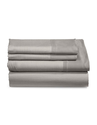 Charter Club Home 550-Thread Count Reversible King Sheet Set-PEWTER-Queen