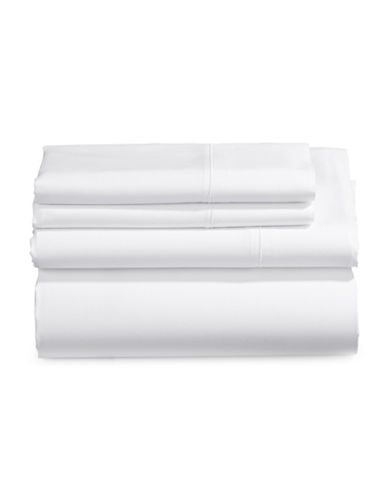 Charter Club Home Allure Four-Piece Sheet Set-WHITE-Double
