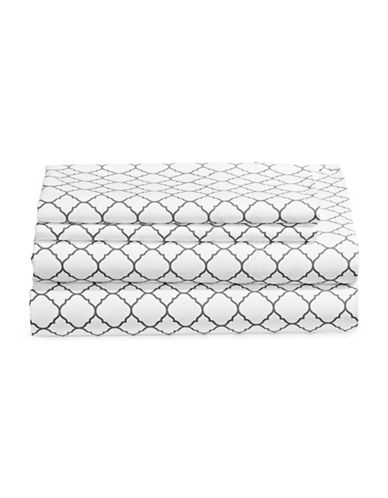 Charter Club Home Damask 500 Thread-Count Four-Piece Print Sheet Set-DOVE-Double