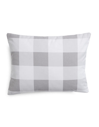 Charter Club Home Gingham Decorative Pillow-DOVE-One Size