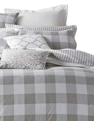 Charter Club Home Plaid Three-Piece Duvet Cover Set-DOVE-Twin